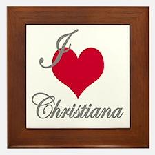 I love (heart) Christiana Framed Tile