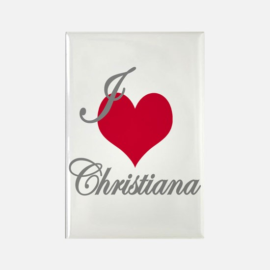I love (heart) Christiana Rectangle Magnet
