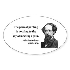 Charles Dickens 23 Oval Sticker