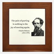 Charles Dickens 23 Framed Tile