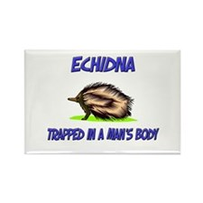 Echidna Trapped In A Man's Body Rectangle Magnet