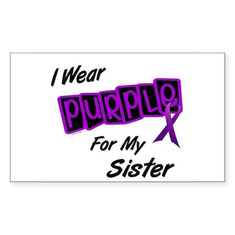 I Wear Purple 8 (Sister) Rectangle Sticker