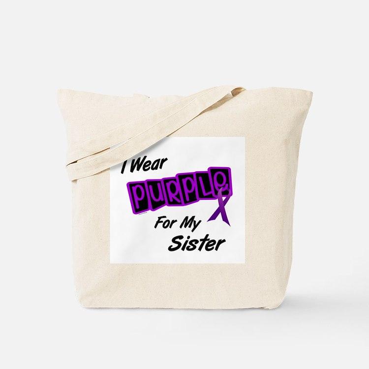 I Wear Purple 8 (Sister) Tote Bag