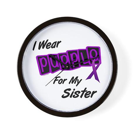 I Wear Purple 8 (Sister) Wall Clock