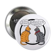 "CAT CHAT 1 2.25"" Button"