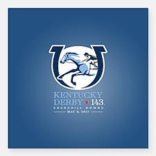 Official Kentucky Derby Logo 2016 Square Car Magne