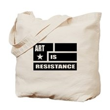Resistance: Black Tote Bag