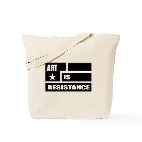 Resistance: Black Tote Bag