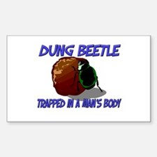 Dung Beetle Trapped In A Man's Body Decal