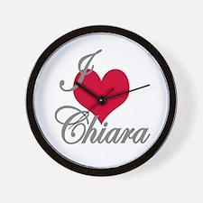 I love (heart) Chiara Wall Clock