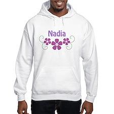 Nadia Pink Flowers Hoodie Sweatshirt