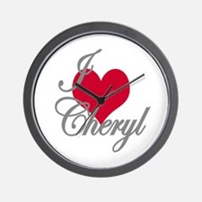 I love (heart) Cheryl Wall Clock