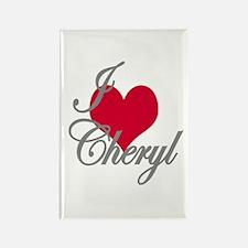 I love (heart) Cheryl Rectangle Magnet