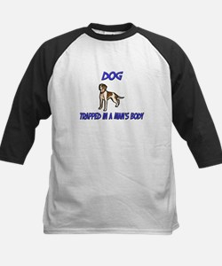 Dog Trapped In A Man's Body Kids Baseball Jersey