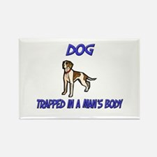 Dog Trapped In A Man's Body Rectangle Magnet