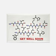 Get Well Soon molecule greeti Rectangle Magnet