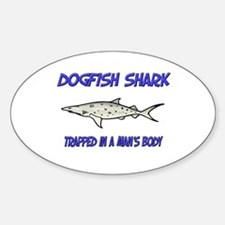 Dogfish Shark Trapped In A Man's Body Decal