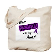 I Wear Purple 8 (Aunt) Tote Bag