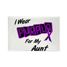 I Wear Purple 8 (Aunt) Rectangle Magnet