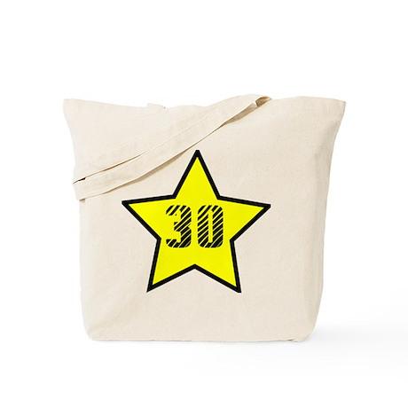 30th Birthday Star Tote Bag