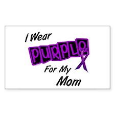 I Wear Purple 8 (Mom) Rectangle Decal