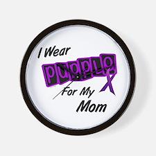 I Wear Purple 8 (Mom) Wall Clock
