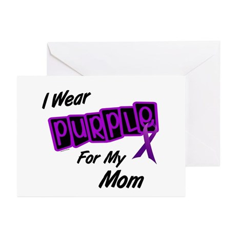 I Wear Purple 8 (Mom) Greeting Cards (Pk of 10)