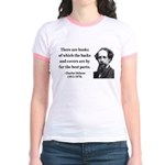 Charles Dickens 22 Jr. Ringer T-Shirt