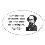 Charles Dickens 22 Oval Sticker