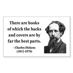 Charles Dickens 22 Rectangle Sticker