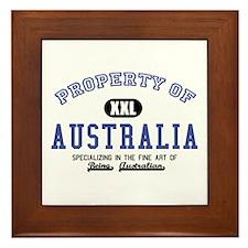 Property of Australia Framed Tile