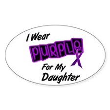 I Wear Purple 8 (Daughter) Oval Decal