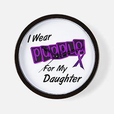 I Wear Purple 8 (Daughter) Wall Clock
