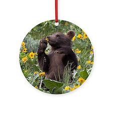 Grizzly Bear Cub Keepsake (Round)