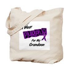 I Wear Purple 8 (Grandson) Tote Bag