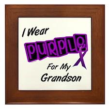 I Wear Purple 8 (Grandson) Framed Tile