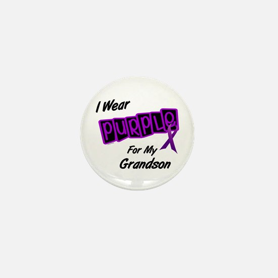 I Wear Purple 8 (Grandson) Mini Button