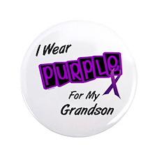 "I Wear Purple 8 (Grandson) 3.5"" Button"