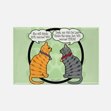 CAT CHAT 1 Rectangle Magnet