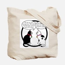 CAT CHAT 1 and 2 Tote Bag