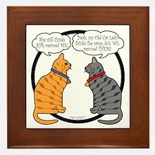 CAT CHAT 1 Framed Tile