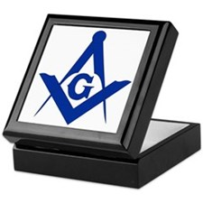 Masonic Square and Compass Keepsake Box