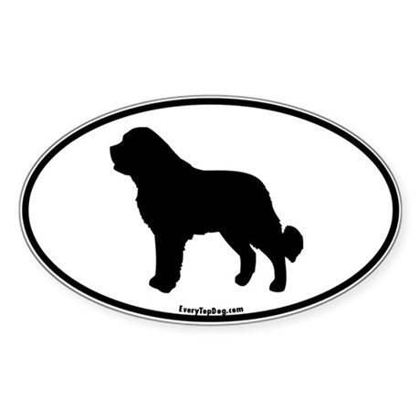 Saint Bernard Silhoutte Oval Sticker