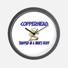 Copperhead Trapped In A Man's Body Wall Clock