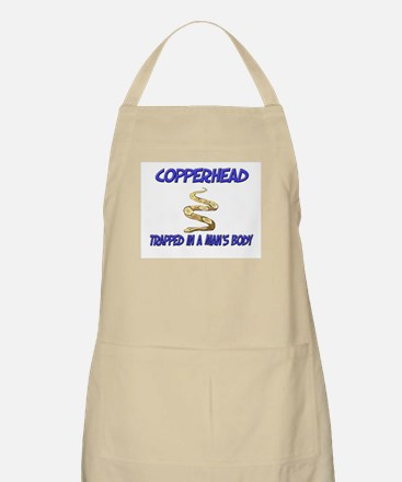 Copperhead Trapped In A Man's Body BBQ Apron