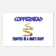 Copperhead Trapped In A Man's Body Postcards (Pack