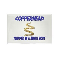 Copperhead Trapped In A Man's Body Rectangle Magne