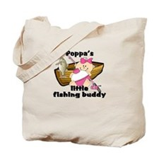 Poppa's Fishing Buddy Tote Bag