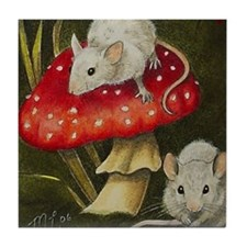 Mouse Art Tile Coaster