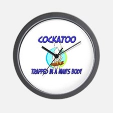 Cockatoo Trapped In A Man's Body Wall Clock